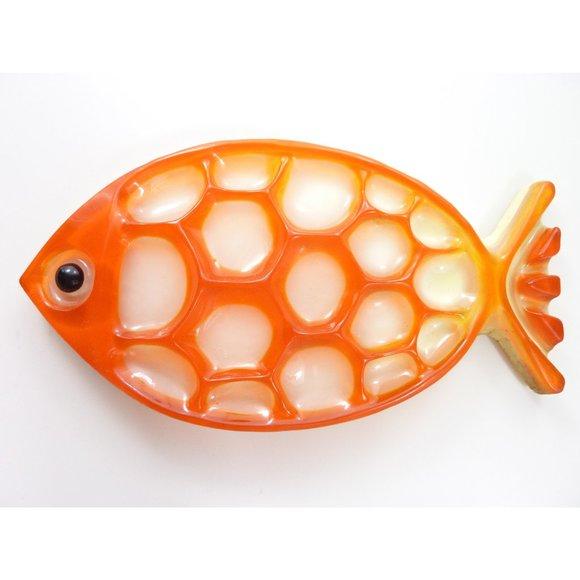 Orange Fish Wall Hanging Koi Gold Fish